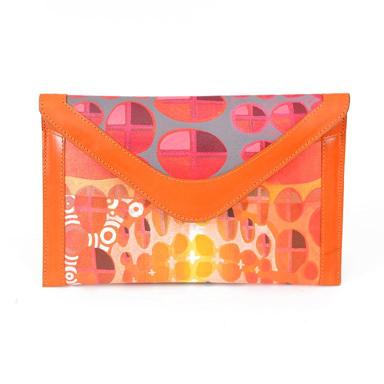 NV Clutch - Inferno Orange