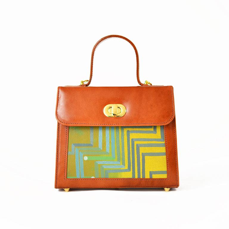LP Handbag-ESC Node Cognac