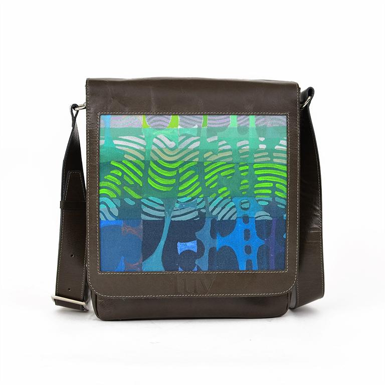 MB Messenger Bag - Blue Birkeland Gray-A