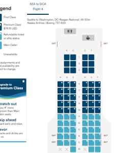 Alaska airlines premium class configuration also which routes feature rh travelcodex
