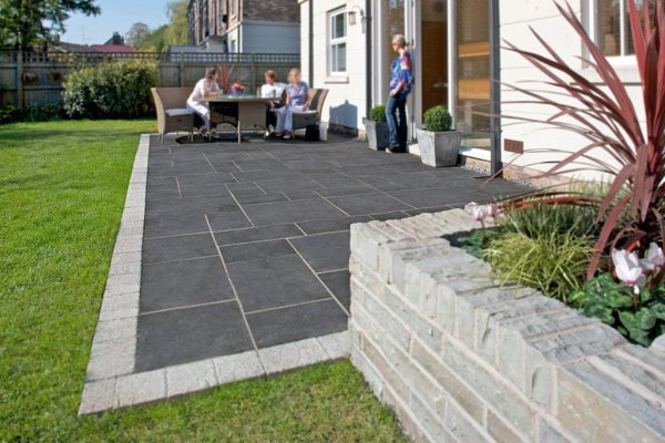 concrete and natural stone pavers