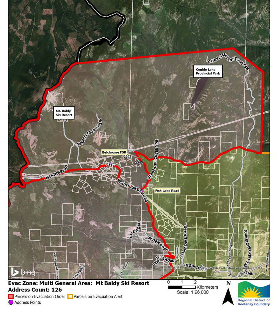 Information on current, large wildfires nationwide is on. Mt Baldy Nk Mip Wildfire Evacuees Allowed Brief Access To Homes Vernon Morning Star