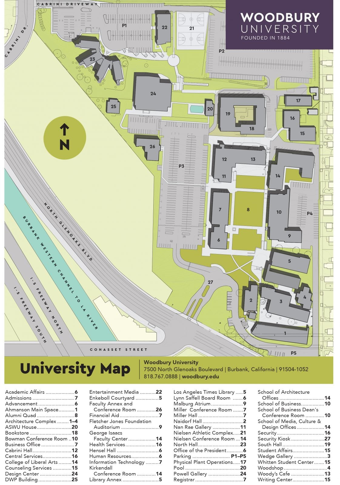 Academic Calendar · Campus Map