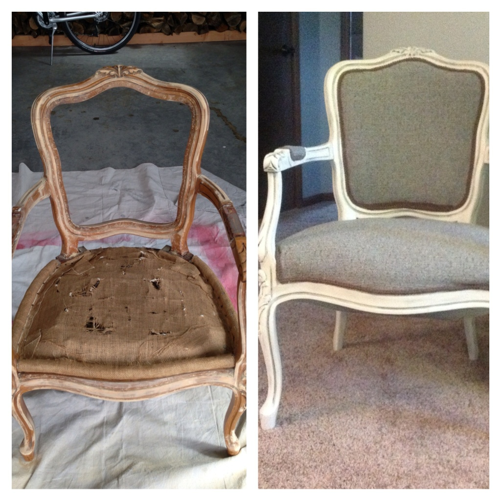 antique queen anne chair covers victoria bc redone i painted it in an white