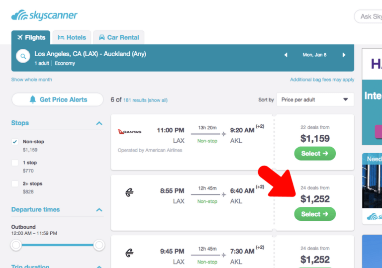 skyscanner lax to nz - Maddy's Avenue