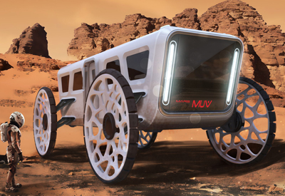 Cad modeling mars transport vehicles