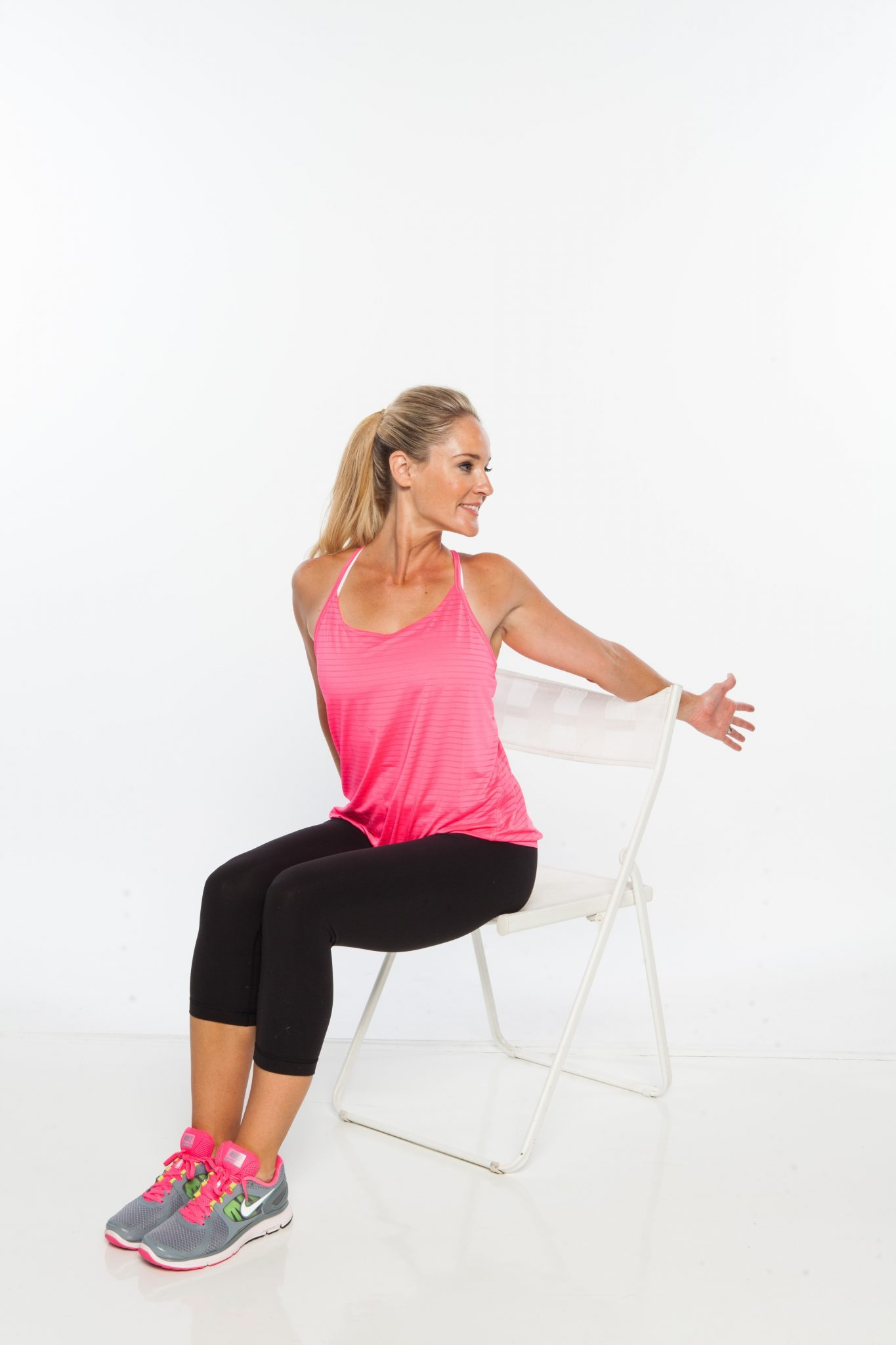 Stretching Chair 6 Seated Yoga Stretches For Walkers And Runners Myfitnesspal