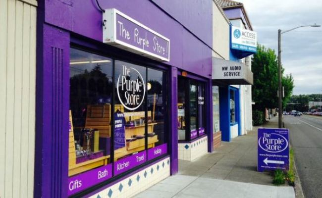 Nothing But Purple At Seattle S The Purple Store