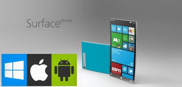 cuidado iPhone-android nuevo Microsoft Surface Phone