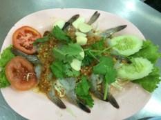 Crevettes crues à la sauce piquante