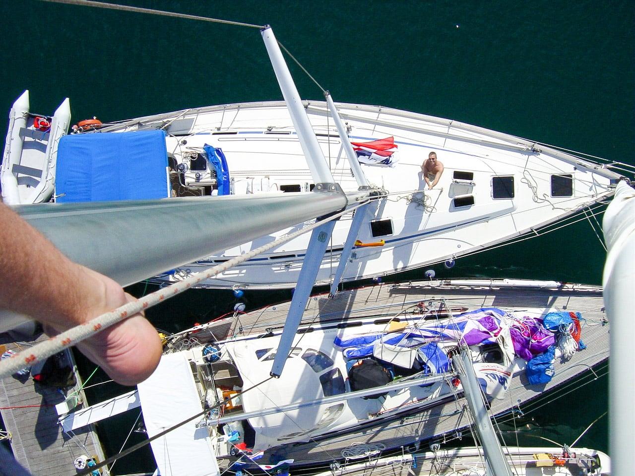 Boot von oben