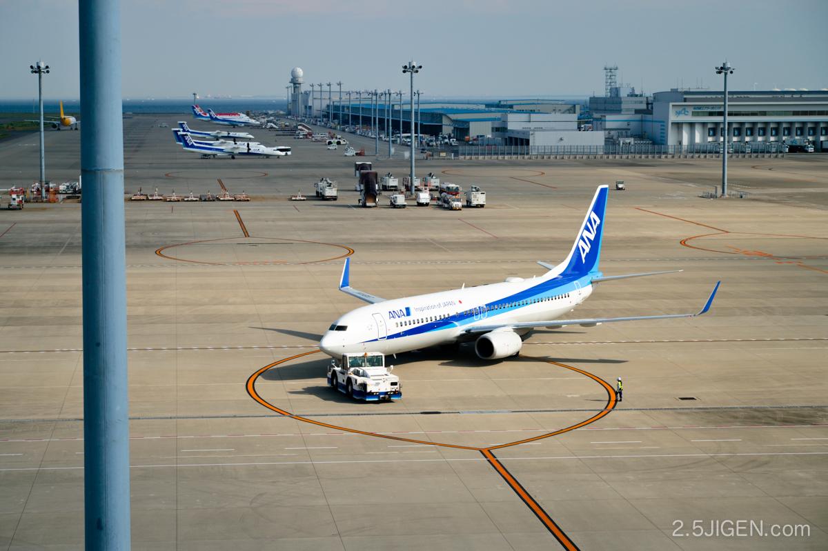 セントレア空港 スカイデッキ ANAの飛行機