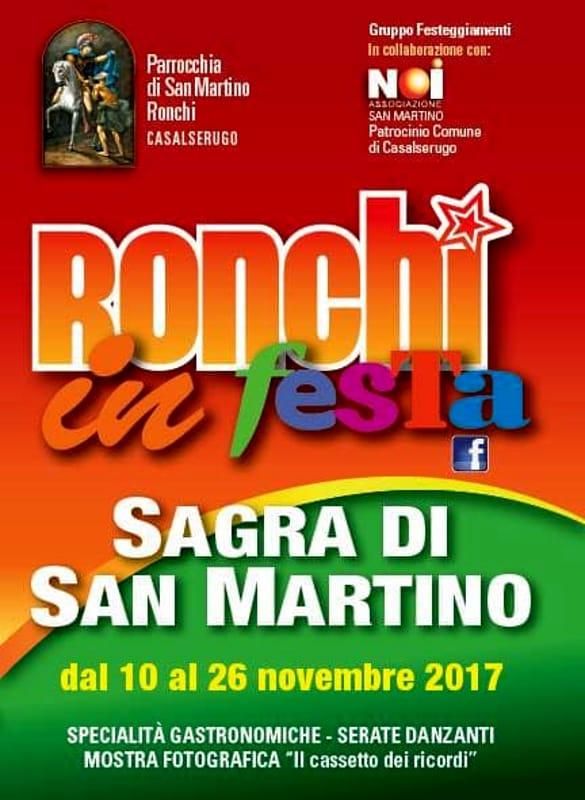 Ronchi in Festa, la sagra di San Martino a Ronchi di Casalserugo
