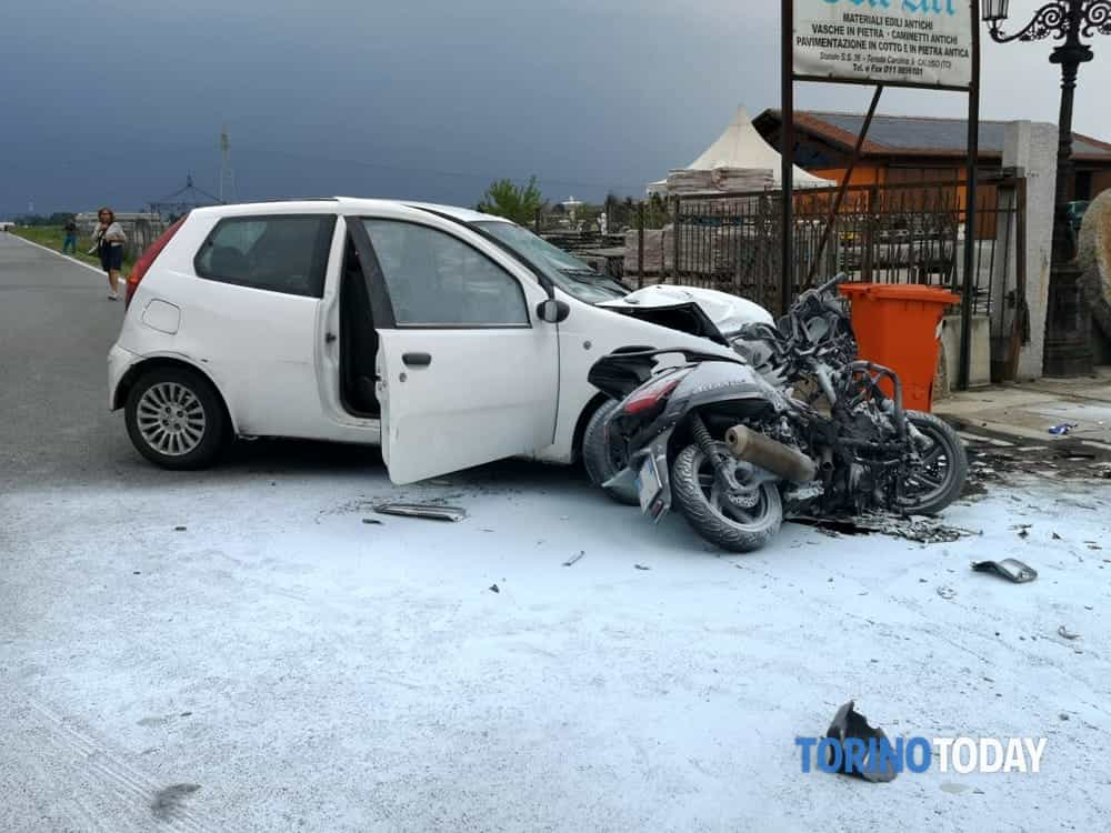 Incidente Borgata Carolina Caluso  Morto motociclista Elio Giobergia  6 settembre 2018