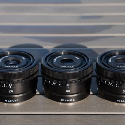 Sony announces compact 24mm 40mm and 50mm full-frame primes