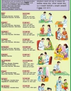 Immunization of the child for health  hygiene chart also at rs piece rh indiamart