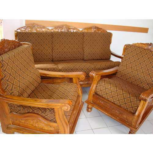 Teak Wood Sofa With Cover
