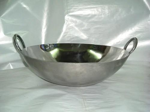 KadaiWok Stainless Steel Karahi Manufacturer From New Delhi