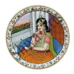 Beautiful Lady Marble Plate