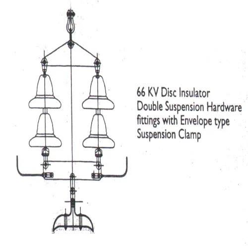 66 KV Disc Insulator Double Suspension Hardware Fittings