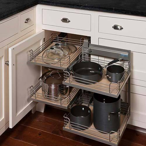 kitchen corner cabinet laminate countertops magic cabinets racks nashik paras