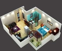 Interior design ideas 1bhk flat lifestyles posterous for 1 bhk flat decoration idea