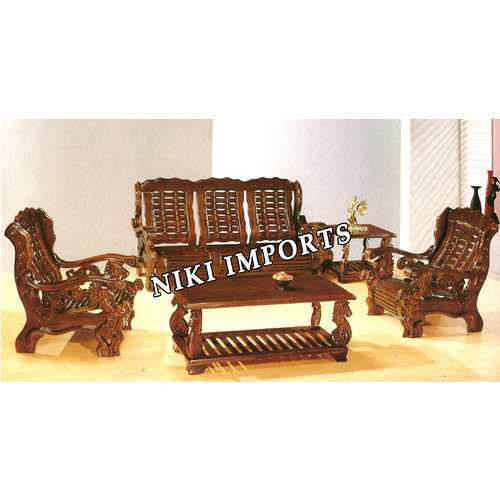 sofa set designs for living room india oversized chairs designer wooden at rs 45000 no s id
