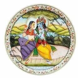 Radha Krishna Marble Plate