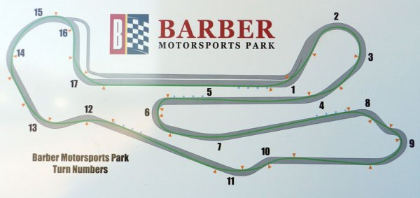 Track Map with Racing Line