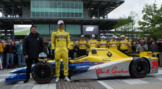 Unveiling of Townsend Bell's Indy 500 livery