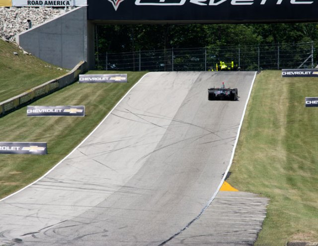 It's hard to describe the elevation changes at Road America, this is the run up to Turn 6