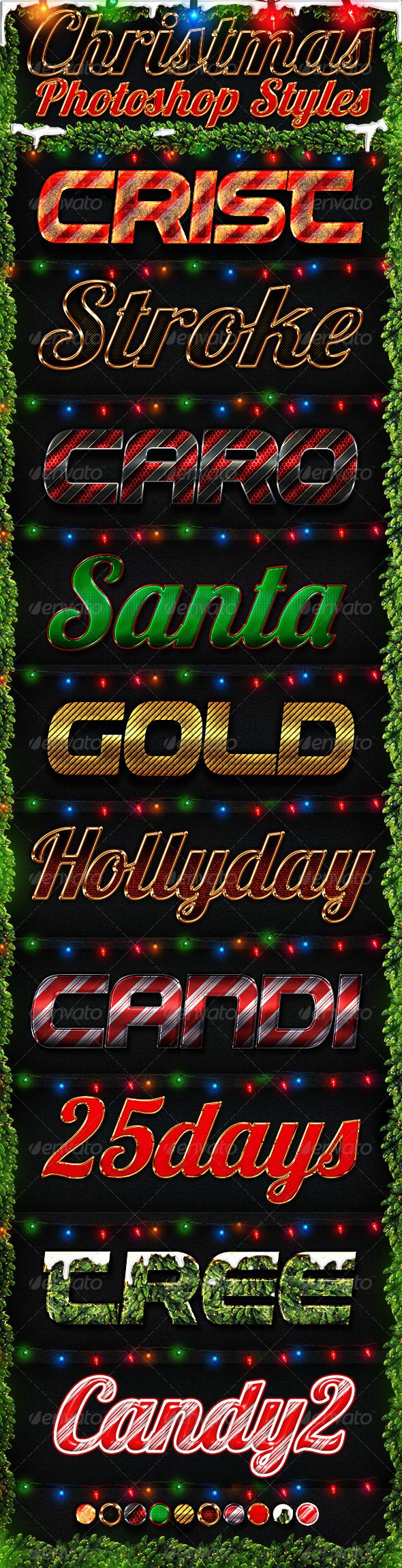 Christmas Photoshop Styles