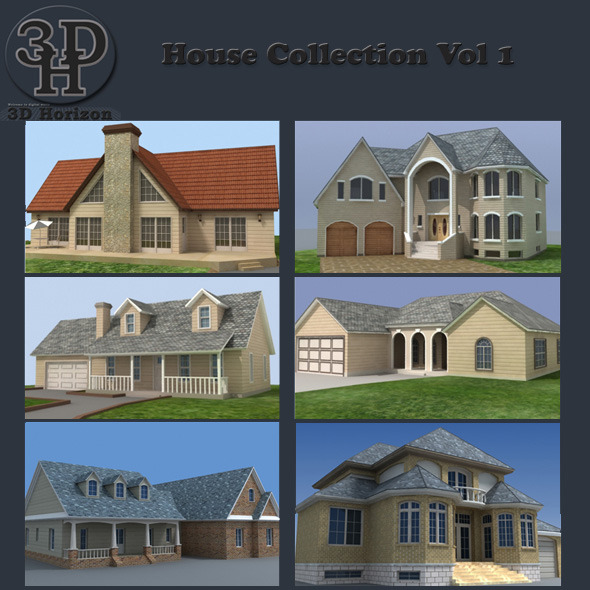 House Collection Vol 1 3DOcean -  Buildings and Architecture 1423809