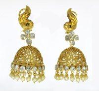 Kundan Polki Earrings,Kundan Polki Earring Jewelry ...