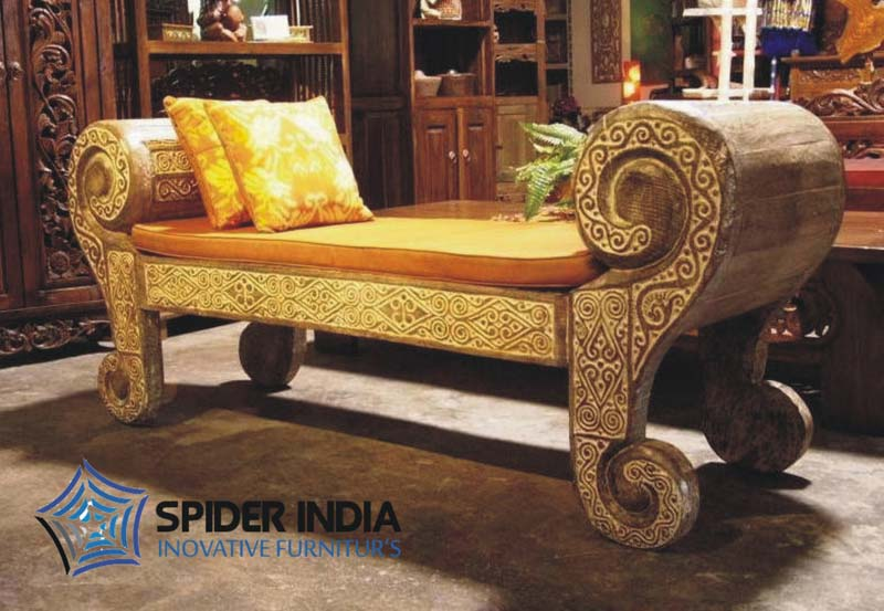 wooden chairs with arms india thinking chair blues clues antique carved sofa,carved indian bench manufacturers