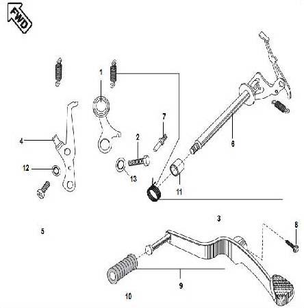 Gear Change Mechanism,Motorcycle Gear Change Mechanism