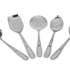 Kitchen Spoons Diy Island On Wheels Stainless Steel Cooking Spoon Slotted