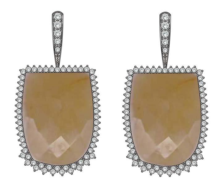 Designer Fancy Earrings,Fancy Metal Earrings,Fancy
