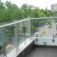 Glass Balcony Railings,Outdoor Glass Balcony Railings