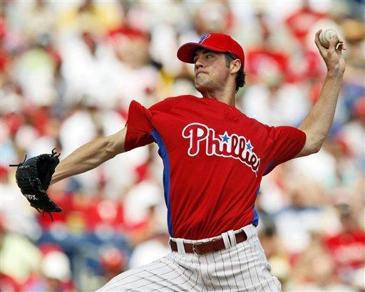 Phillies Hamels Baseball