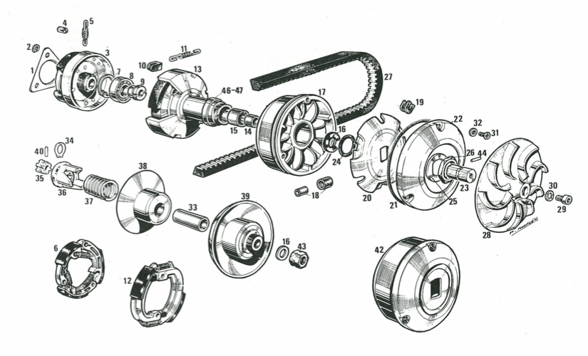 one of my favorite books, the derbi spare parts catalog