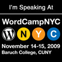 I'm Speaking at WordCamp NYC 2009