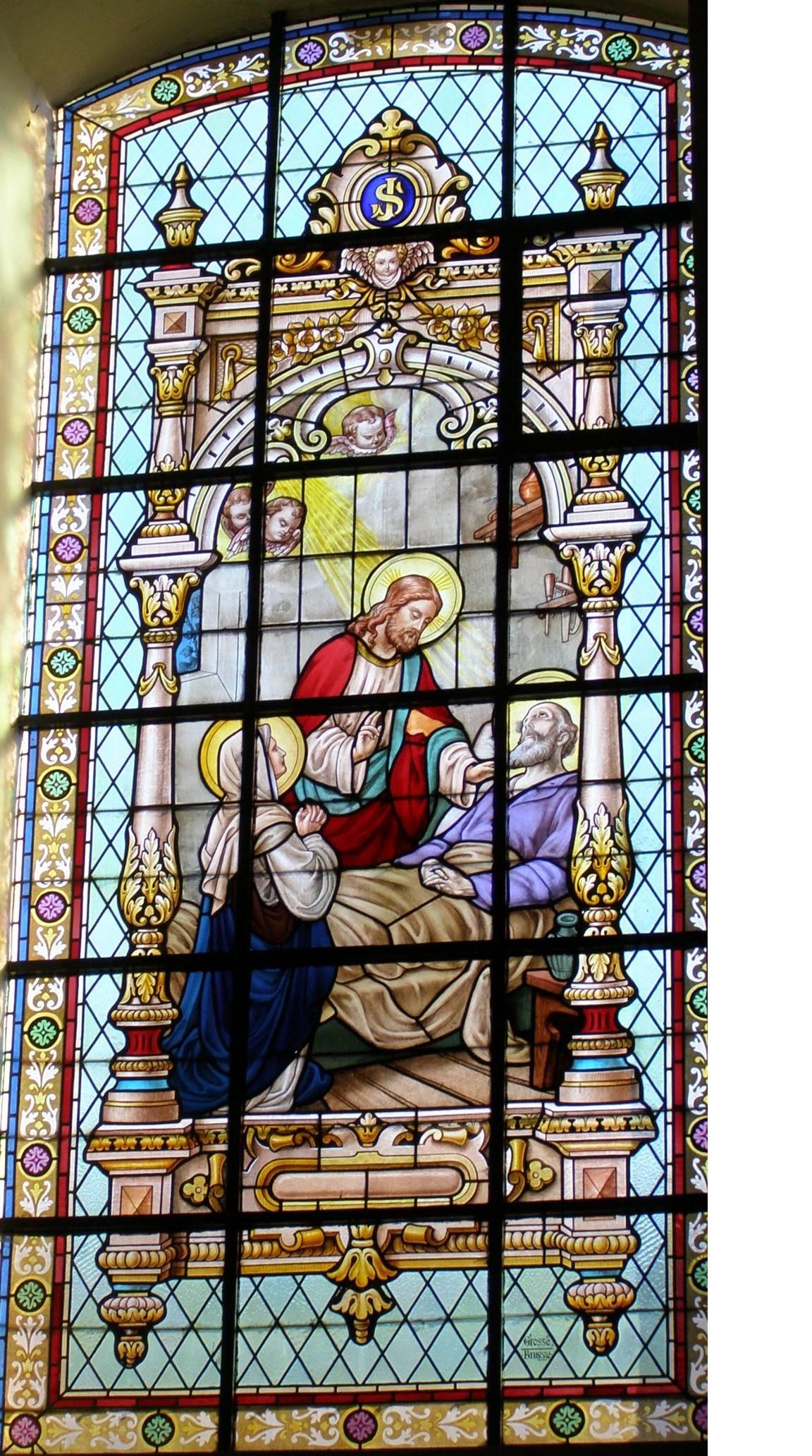 Brandglas Gbergen 9 – Mort de Joseph