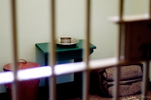 Nelson Mandela spent 18 of his 27 year imprisonment sleeping and studying in this cell on Robben Island.
