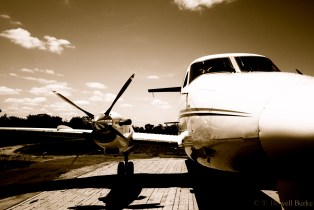 Guests at Londolozi often fly in on bush planes like this one.