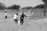 In South African schools, the learners are largely responsible for the upkeep of the school grounds. These tasks are almost always tackled in a group manner.