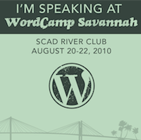 I'm attending WordCamp Savannah