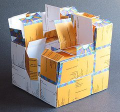 Business Card Cube Gift Box (mangled)