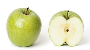 A Granny Smith apple