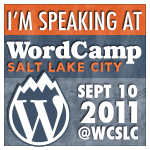 WordCamp SLC 2011